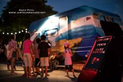 caravane light painting